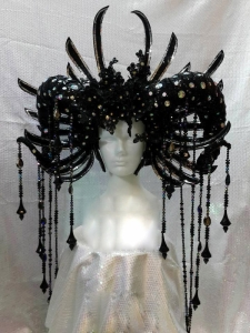 H821Ninja Alien Monster Crystal Headdress