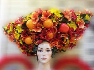 H093A Tropical Blooming Flower Fruit headdress