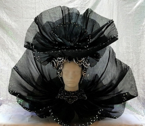C844 Black Swan Lady Backpeice Headdress