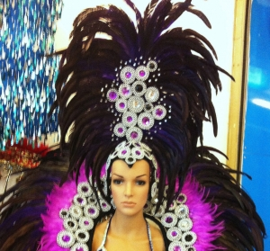 C041H Vegas Circle Burlesque Showgirl Headdress