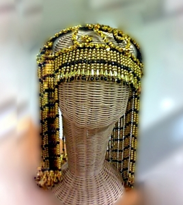 H002 Sequin Headdress Showgirl Hat Cap Wig