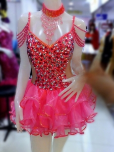C082F Queen of Rainbow Candy Dollie Showgirl Tutu Dress