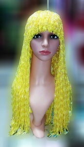 M535Y Cher Bugle Beaded Hat Wig
