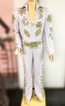 Elvis Presley Inspired Singer The King Nature Belt Jumpsuit Costume
