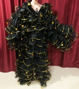 C004X Gigantic Ruffle Coat Jacket