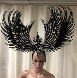 C069 Show Phoenix Garuda Bird Showgirl Headdress