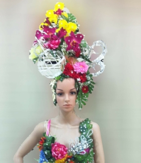 C055H Flower Elegant Headdress