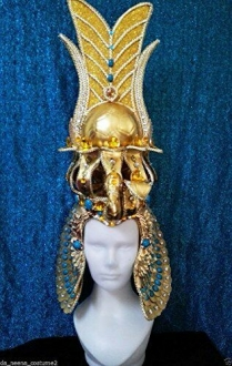 H1233 Queen Snake Cleopatra Egypt Pharoah Showgirl Headdress