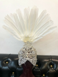 H945 European Lady Crystal Mask Headdress