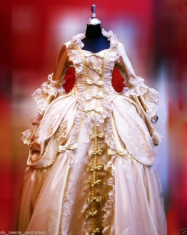G0401 Northern Europeans Lady Cabaret Renaissance Showgirl Dress Gown