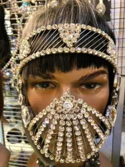 J960 Mad Max Lady  Crystal Mouth Mask