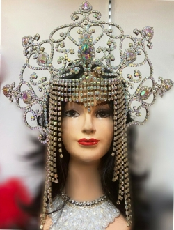 J961 Cleopatra Queen Samba Crystal Crown