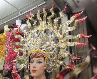 C062 Red Fire Star Sun Goddess Showgirl Headdress