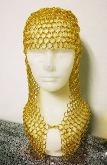 M968 Gold and Silver Loop Scarf Hat Wig