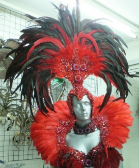 C027C Samba Parade Carnival Rio Feather Headdress Backpieces for Child