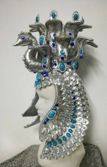 H974 The Peacock Cleopatra Queen Headdress