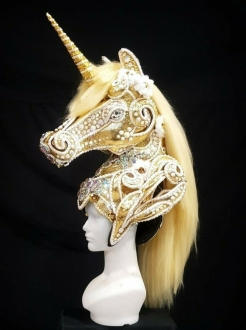 DNN HUT H981 Unicorn Stallion Sea biscuit Spirit Champion Derby Headdress