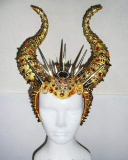 DNN H993 The Strong Viking King Longhorns Crystal Headdress